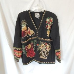 Heirloom collectibles Womens Christmas Sweater Car